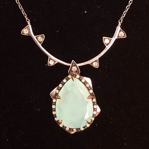 Elizabeth & James Chalcedony and Sterling Necklace